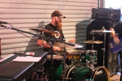 Scott Thomas on the drums